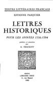 Lettres historiques pour les années 1556-1594