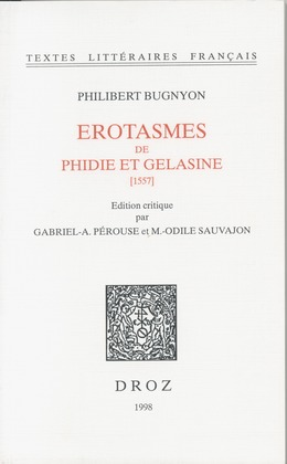 Erotasmes de Phidie et Gelasine : 1557