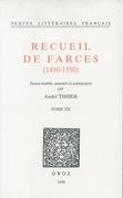 Recueil de farces (1450-1550)