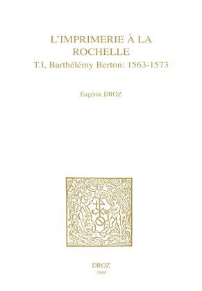 L'Imprimerie à la Rochelle