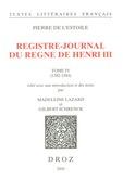Registre-journal du règne de Henri III,
