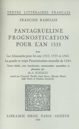 Pantagrueline Prognostication pour l'an 1533