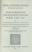 Pantagrueline Prognostication pour l'an 1533
