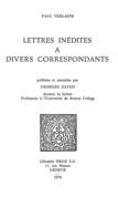 Lettres inédites à divers correspondants