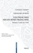 Les Pseaumes mis en rime françoise