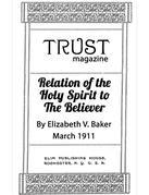 Relation of the Holy Spirit to the Believer