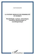 La notion modale de possibilité en basque