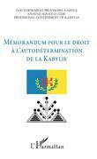Mémorandum pour le droit à l'autodétermination de la Kabylie