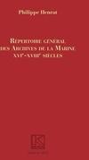 Répertoire Général des Archives de la Marine