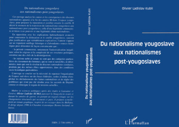 Du Nationalisme Yougoslave aux Nationalismes Post-Yougoslaves