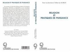 RELIGION ET PRATIQUES DE PUISSANCE