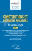 Constitutions et documents financiers Vol 2 Espace UMOA/UEMOA