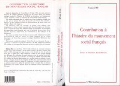 Contribution à l'histoire du mouvement social français