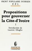 Propositions pour gouverner la Côte-d'Ivoire