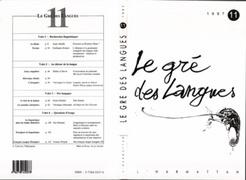 Le gré des langues n°11