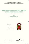 Annales de la faculté des lettres et des