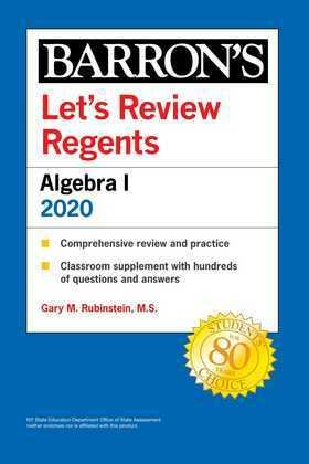Let's Review Regents: Algebra I 2020