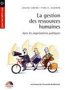 La gestion des ressources humaines dans les organisations publiques