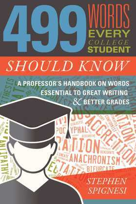 499 Words Every College Student Should Know