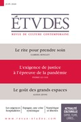 Revue Etudes - L'exigence de justice à l'épreuve de la pandémie