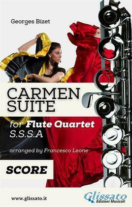 """""""Carmen"""" Suite for Flute Quartet score & parts"""