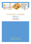 Physiologie Humaine PCEM2