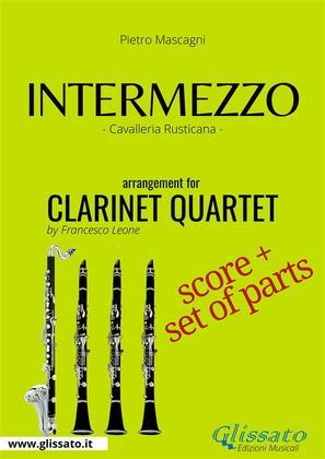 Intermezzo - Clarinet Quartet score & parts