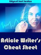 Article Writer's Cheat Sheet