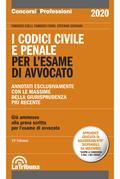 I codici civile e penale per l'esame di avvocato