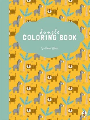 Jungle Coloring Book for Kids Ages 4+