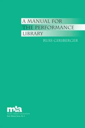 A Manual for the Performance Library