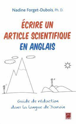 Ecrire un article scientifique en anglais