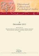 Journal of Educational, Cultural and Psychological Studies (ECPS Journal) No 6 (2012)