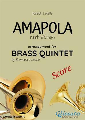 Amapola - Brass Quintet - score