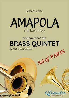 Amapola - Brass Quintet - set of parts