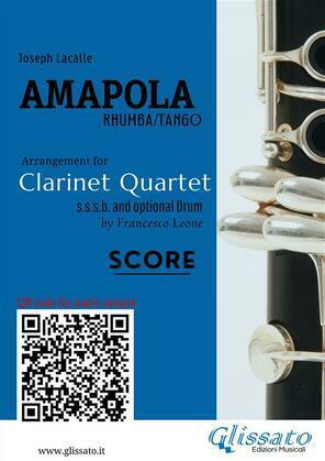 Amapola - Clarinet Quartet - score