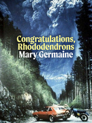 Congratulations, Rhododendrons
