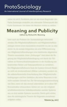Meaning and Publicity