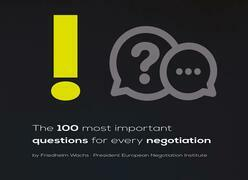 The 100 most important questions for every negotiation