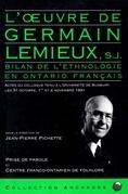 L'Oeuvre de Germain Lemieux, s.j.