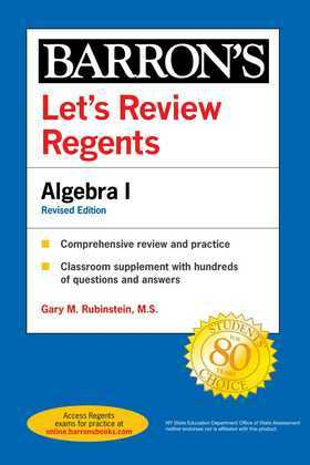Let's Review Regents: Algebra I Revised Edition