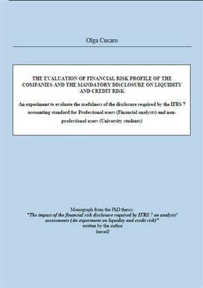 THE EVALUATION OF FINANCIAL RISK PROFILE OF THE COMPANIES AND THE MANDATORY DISCLOSURE ON Liquidity AND Credit RISK