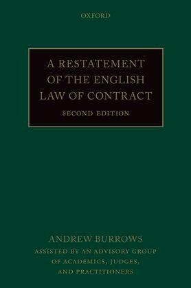 A Restatement of the English Law of Contract