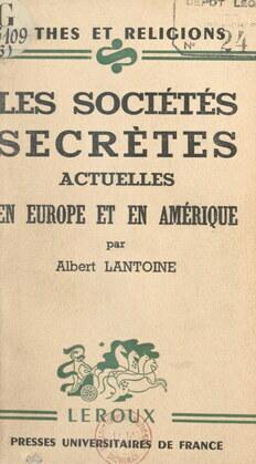 Les sociétés secrètes actuelles en Europe et en Amérique