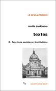 Textes 3. Fonctions sociales et institutions