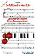 Go Tell it on the Mountain - Solo with piano acc. (key Bb)