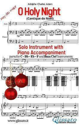 O Holy Night - Solo with Piano acc. (key Bb)
