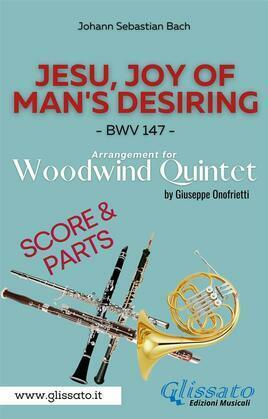 Jesu, joy of man's desiring - Woodwind Quintet - Parts & Score