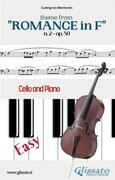 """Theme from """"Romance in F"""" Easy for Cello and Piano Solo"""