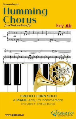 Humming Chorus -  French Horn and Piano (Key Ab)